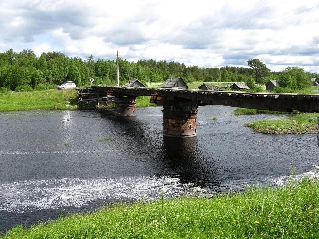 Пяльма мост через реку