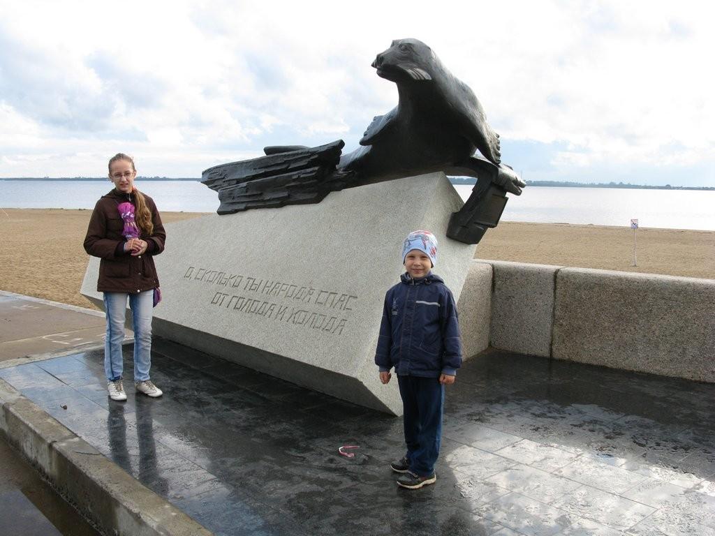 Архангельск памятник тюленю