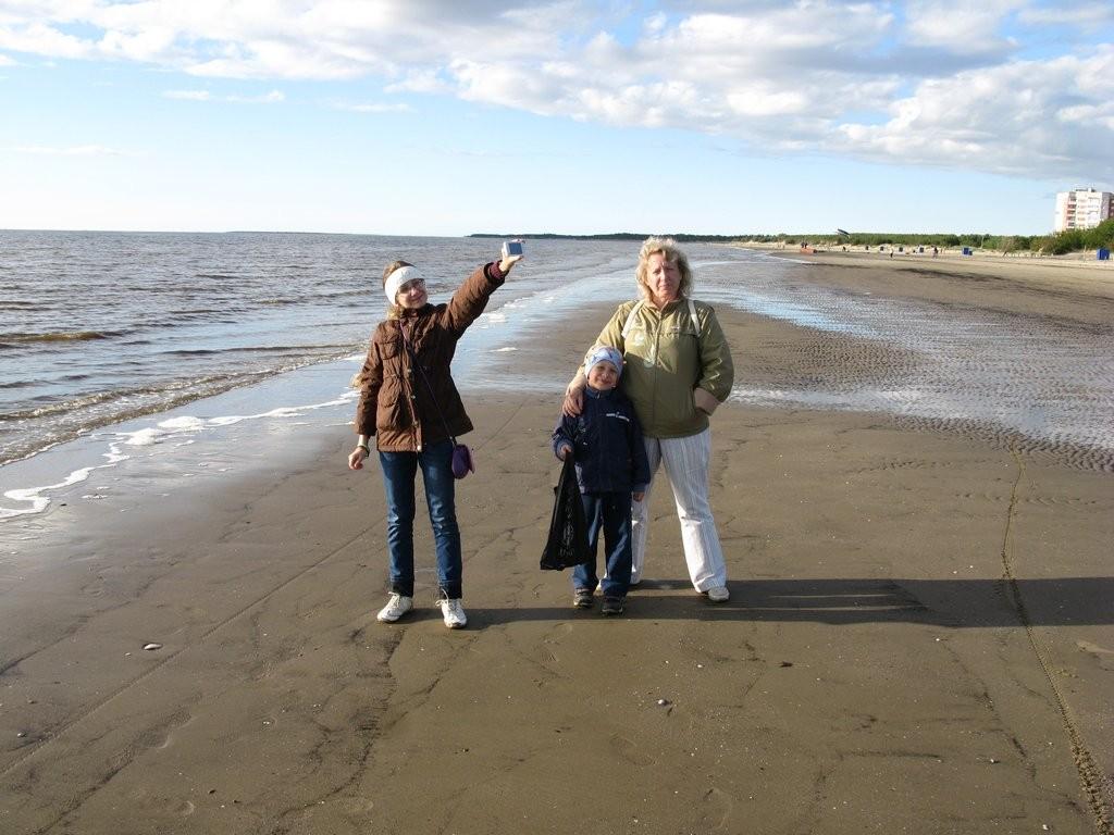 Песчаный пляж на Белом море