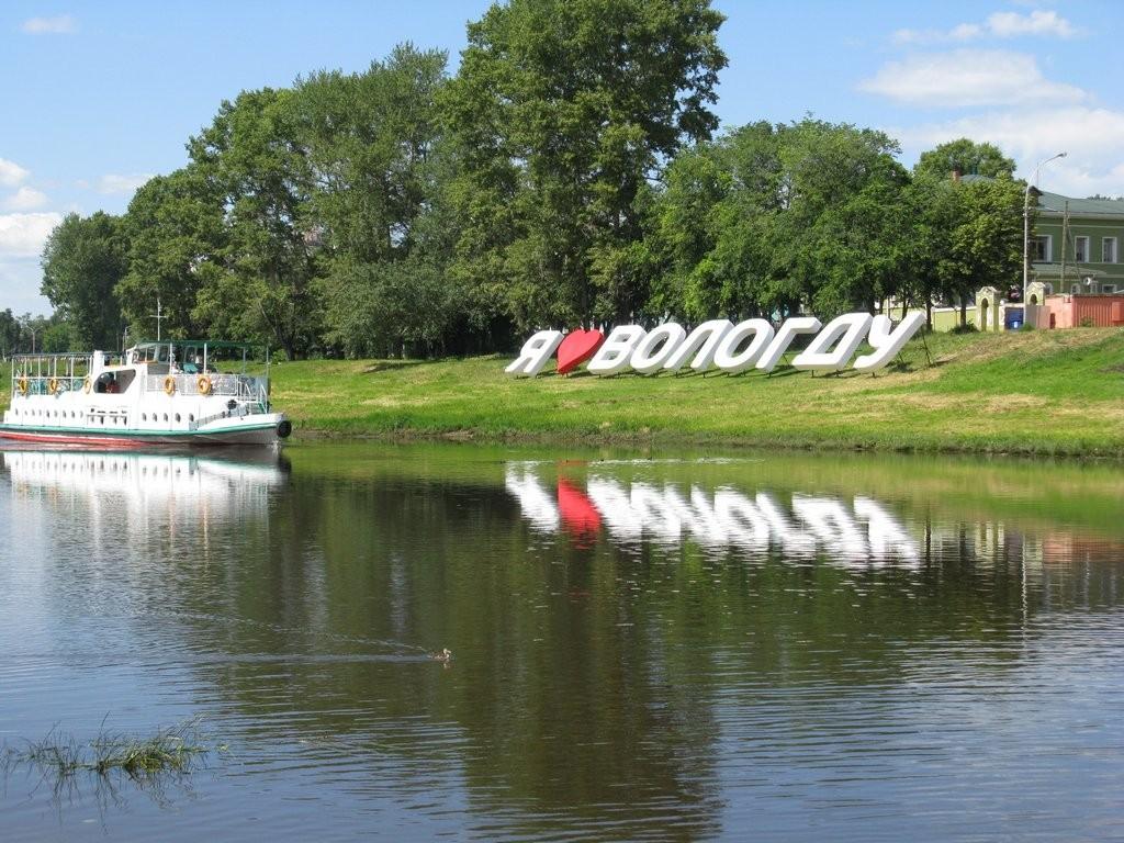 кораблик на реке Вологда
