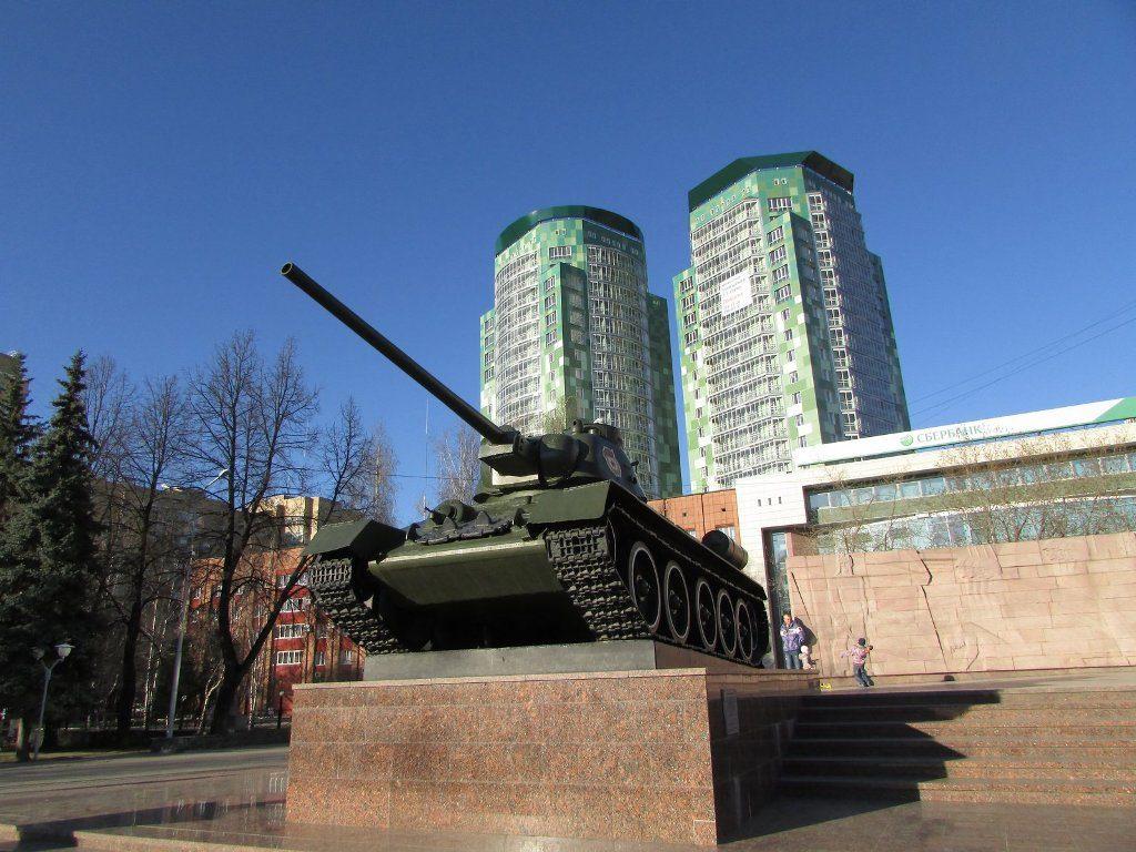 Танк Т-34 в Перми