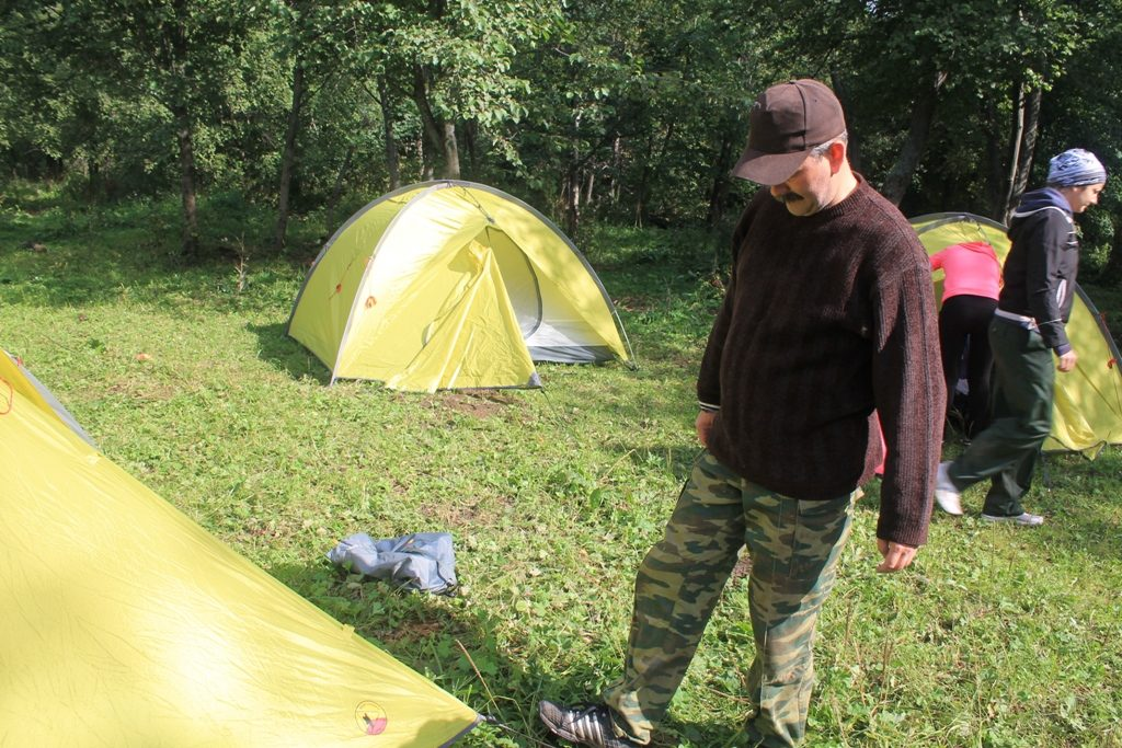 Палатка поставлена