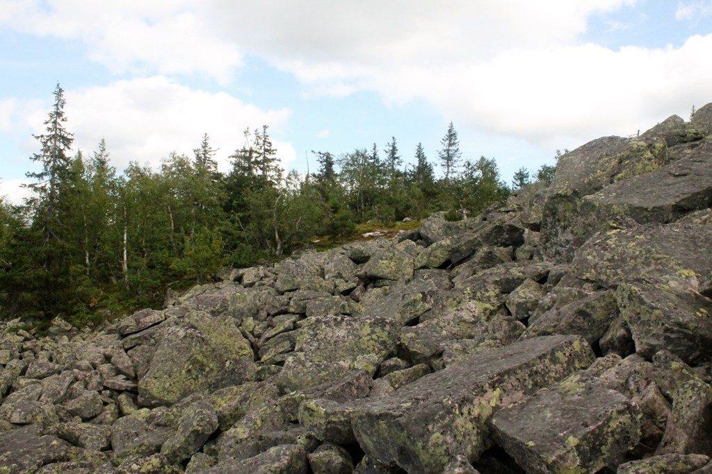 Тропинка в обход камней