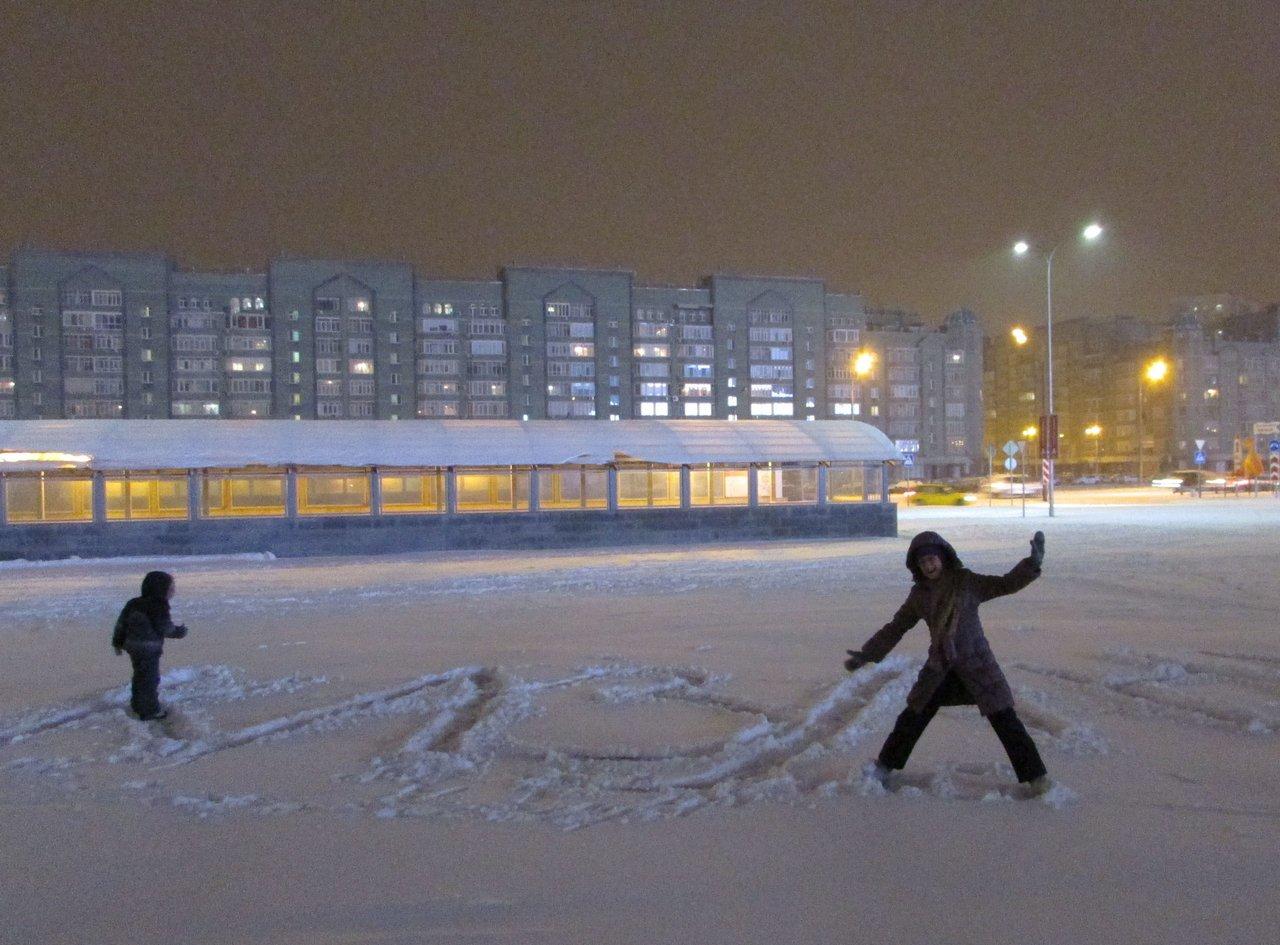 Детские забавы на снегу