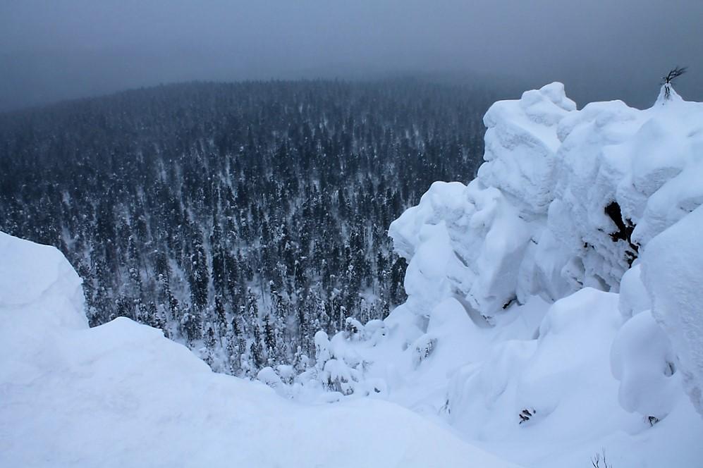 Вид с Полюда зимой