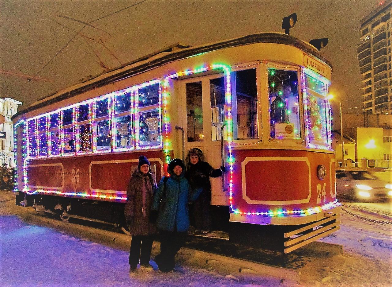Выставка старинных трамваев