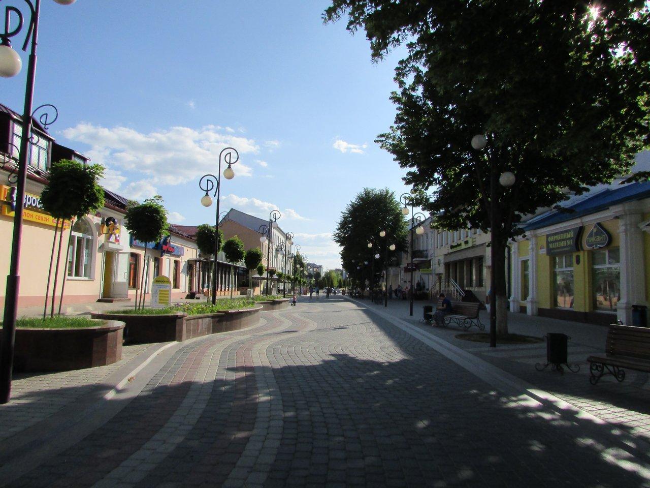 Пешеходая улочка Пинска