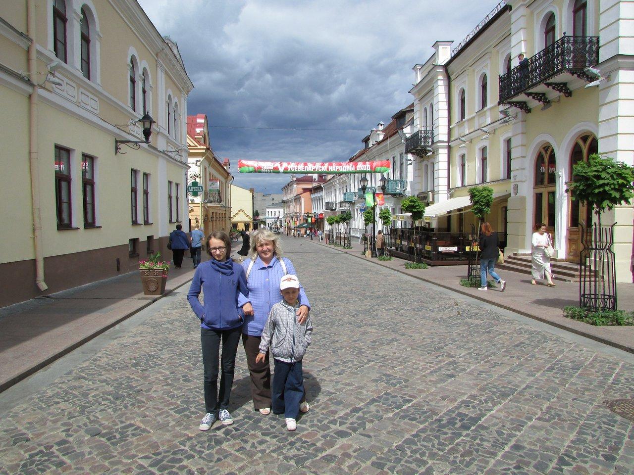 По пешеходной улочке Гродно