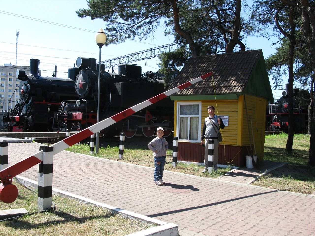 Музей паровозов в Барановичах