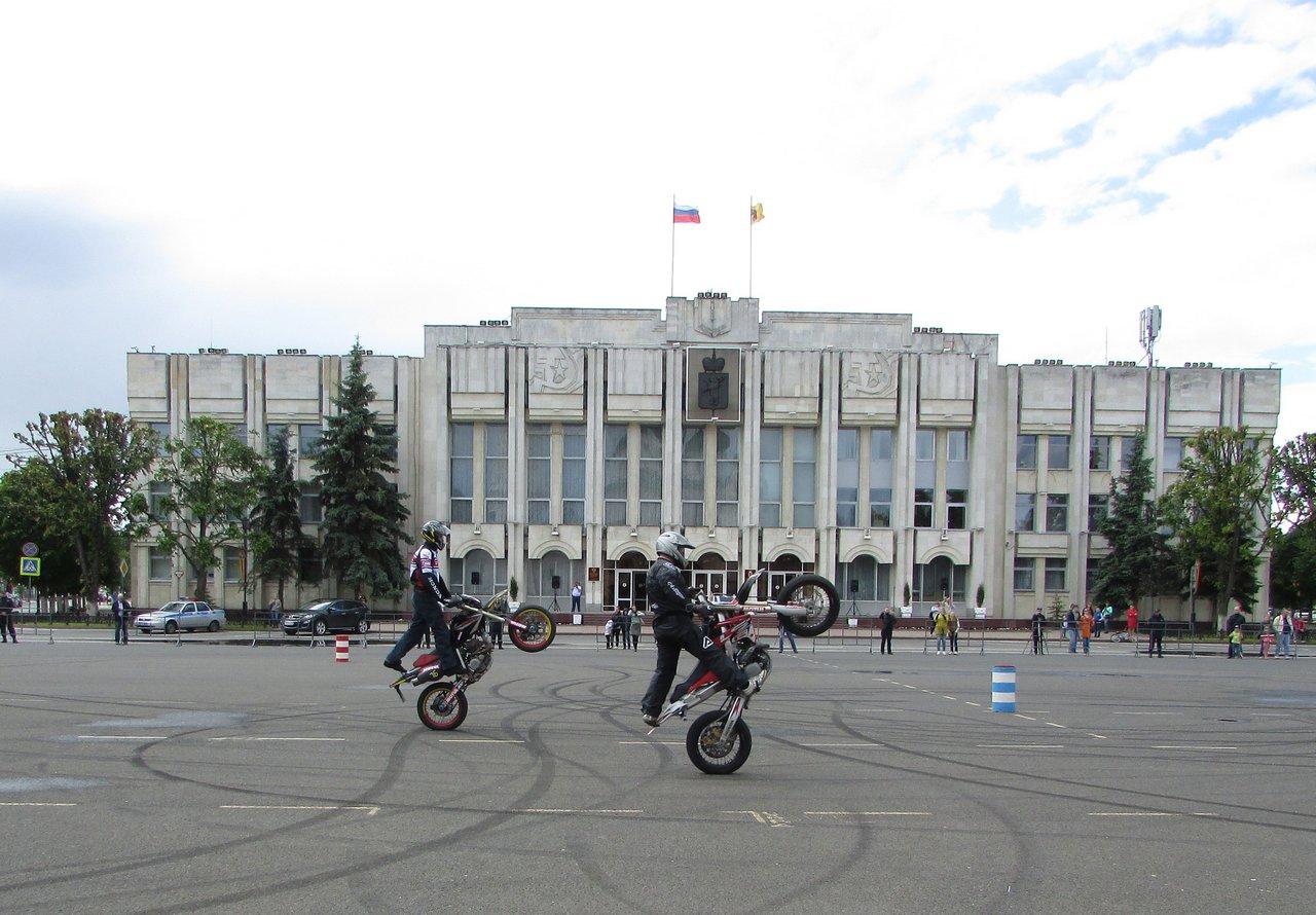 Выступление мотоциклистов