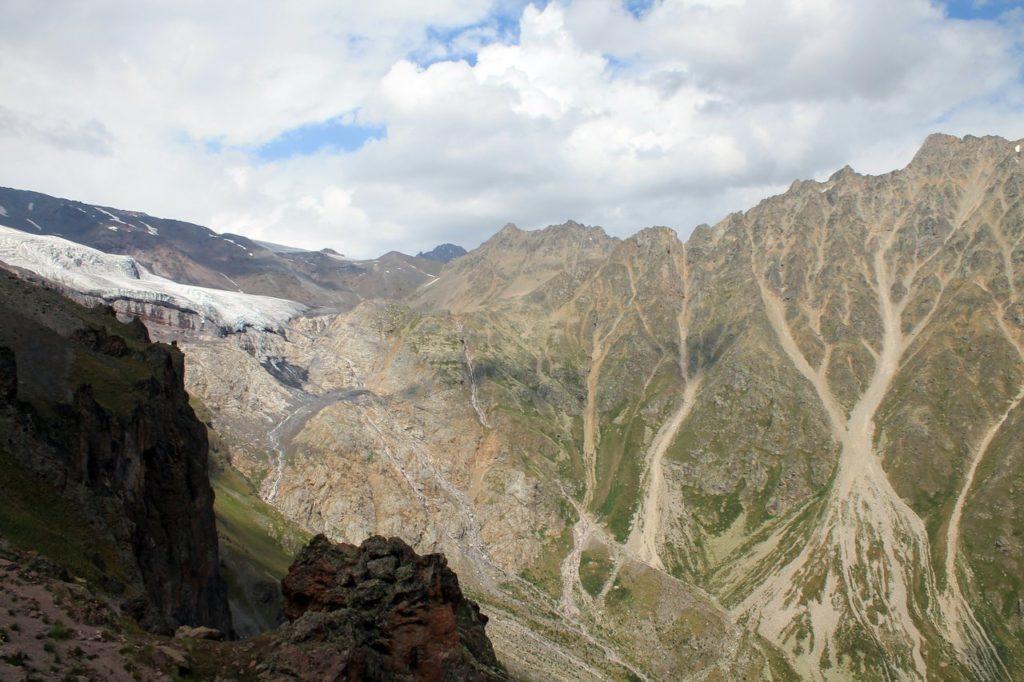 Ледник Терскол и одноименное ущелье