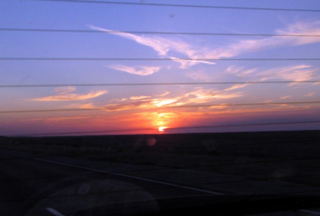 Закат над степью