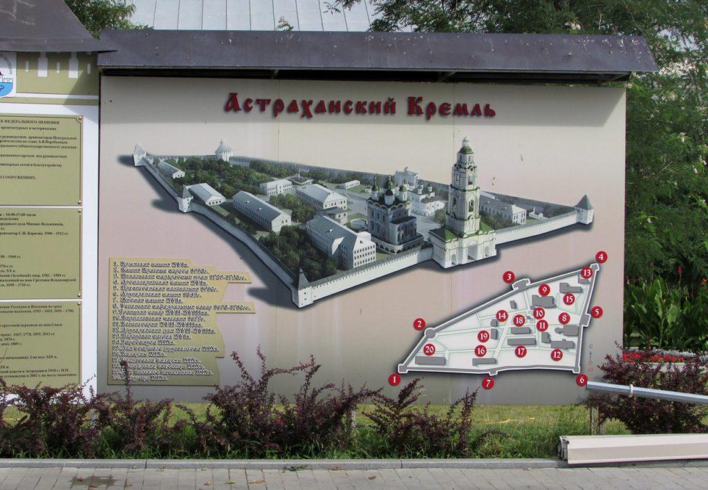 План-схема Астраханского кремля