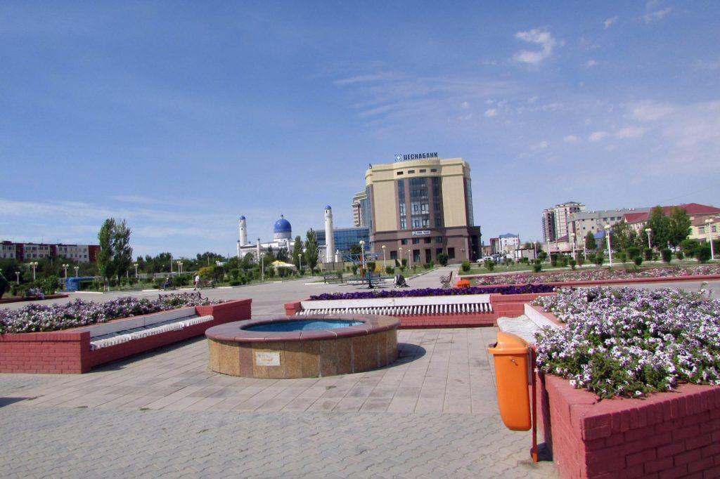 Центральная площадь Атырау
