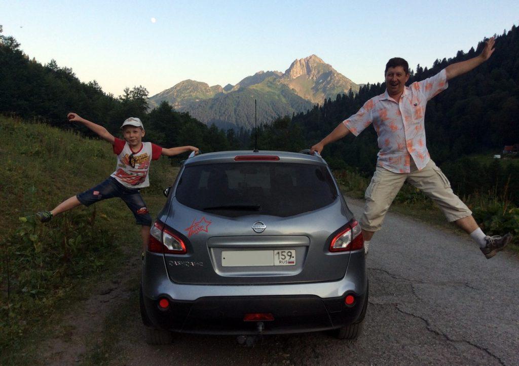 На машине по Абхазии