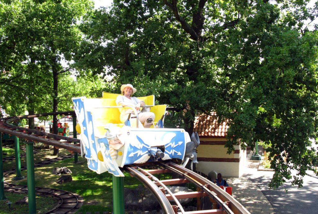 На колеснице над головами посетителей