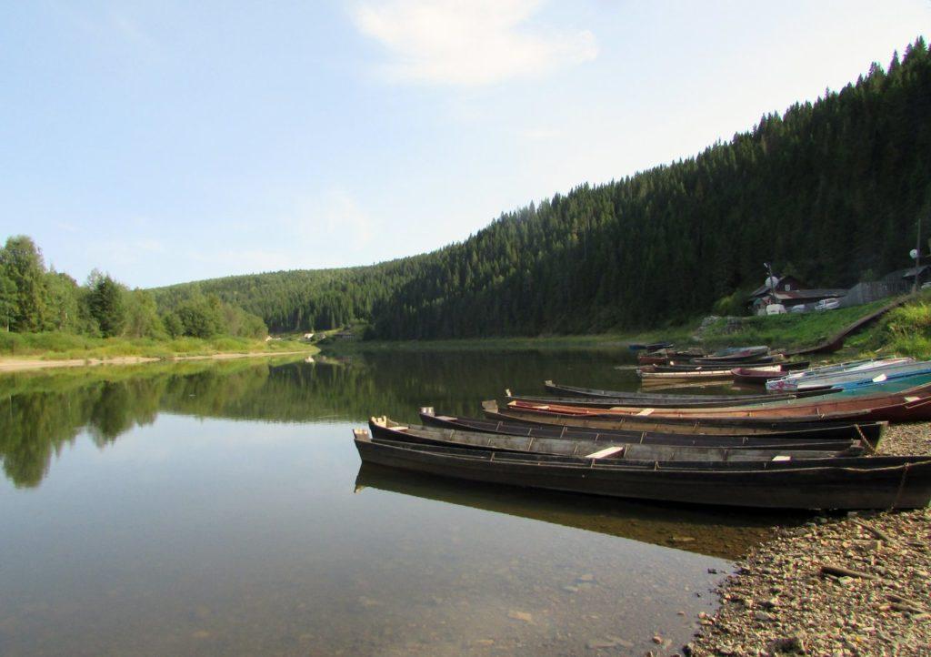 Лодки на Чусовой