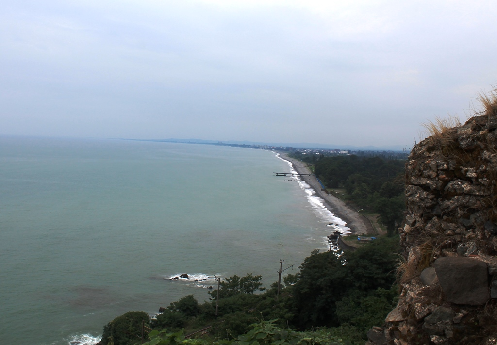 Вид на пляж Кобулети