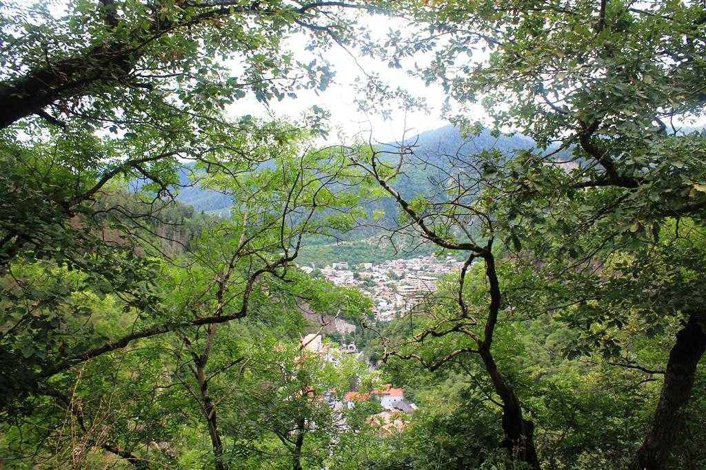 Вид сверху на курорт Боржоми