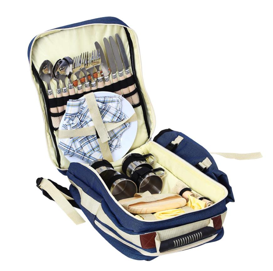 Рюкзак с посудой для пикника
