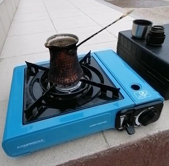 Варим кофе на газовой плитке