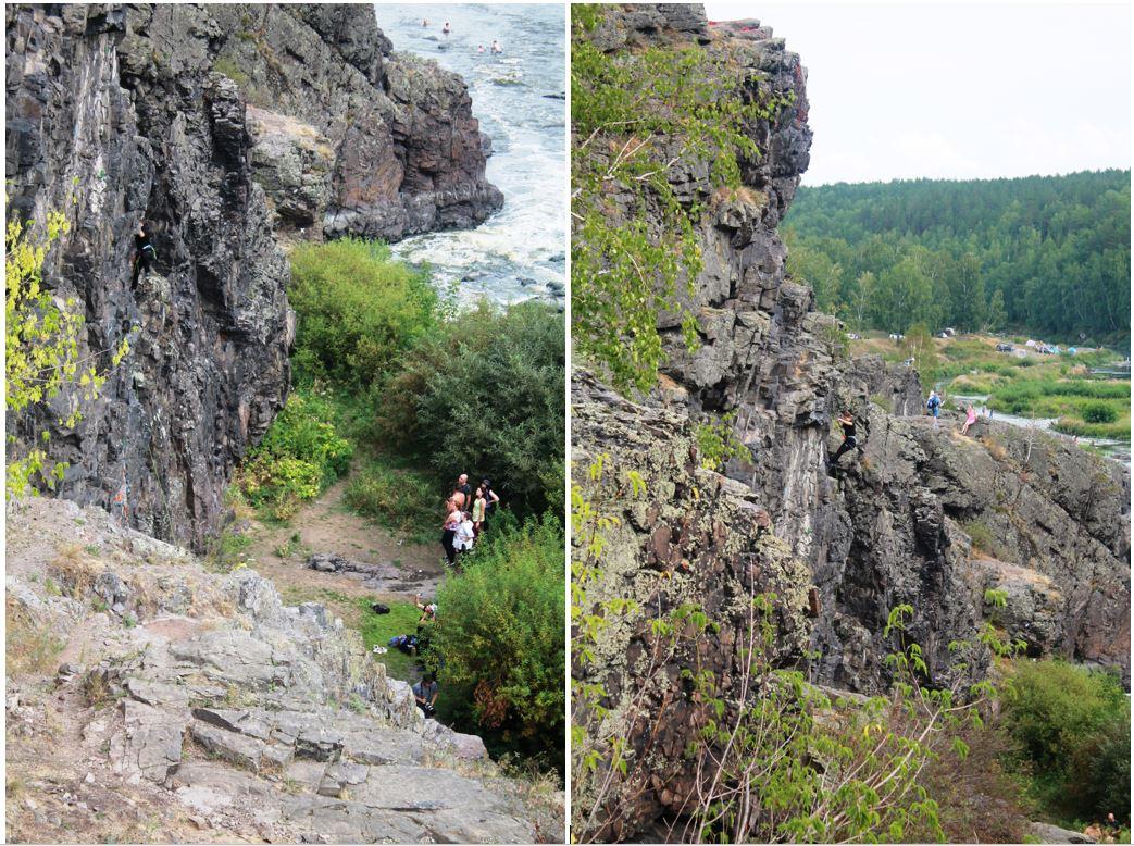 Альпинисты штурмуют скалу