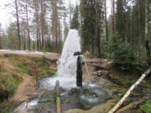 Жуланоский фонтан осенью